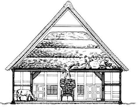 scheune zeichnen fachwerk de lexikoneintrag das niederdeutsches hallenhaus