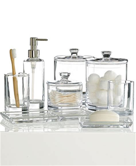 hotel collection glass bath accessories collection only