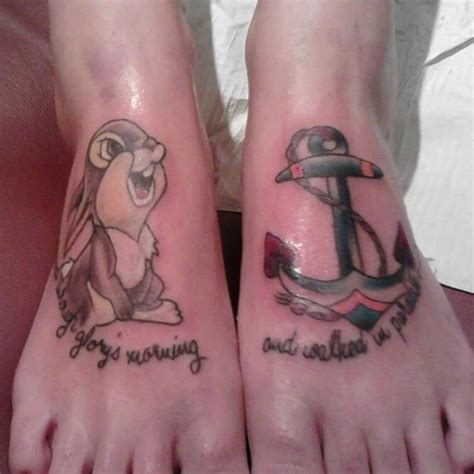 thumper tattoo thumper and anchor on tattooshunt