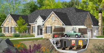 House Plans With Garage In Basement Basement Entry Garage House Plans
