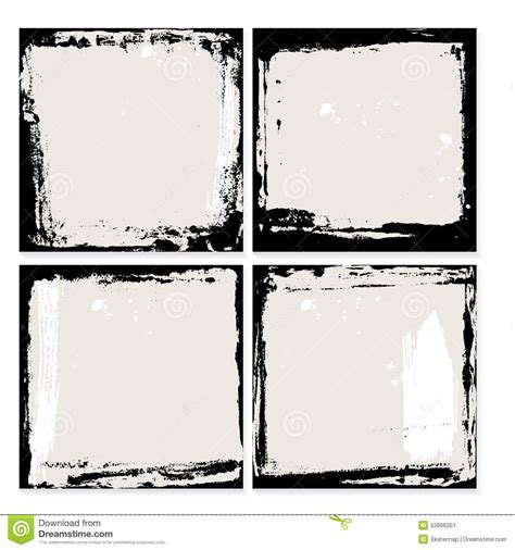 grunge frame vector stock vector illustration of drawings card 3736909 abstract grunge frame set black and beige background template vector stock vector image
