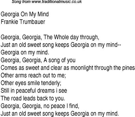 top songs   charts lyrics  georgia   mindft