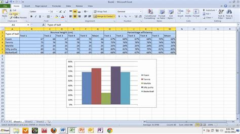 Ms Word And Excel Copying Tables And Graphs From Excel To Word
