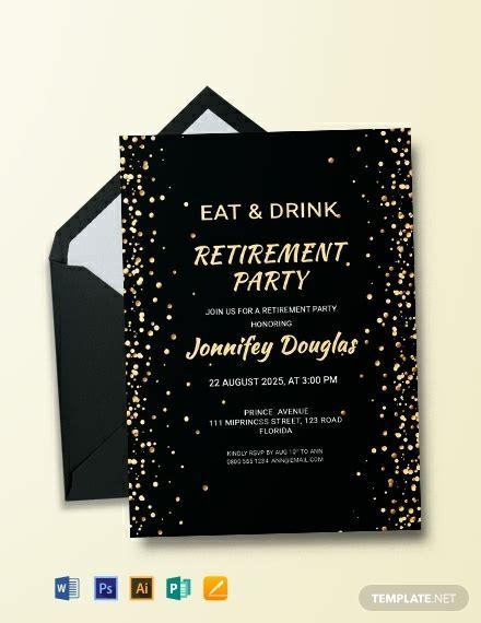 surprise retirement party invitation template word