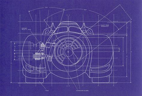 blue prints 1989 batmobile blueprints