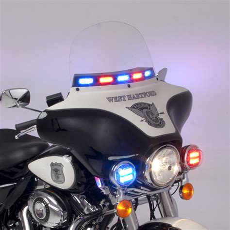 police motorcycle emergency lights whelen police motorcycle windshield linz6 led lights road