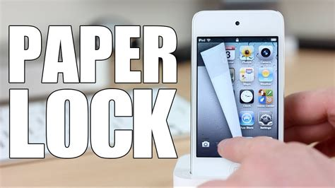 How To Make A Paper Iphone - cydia tweak paper lock iphone ipod ios5 1 1