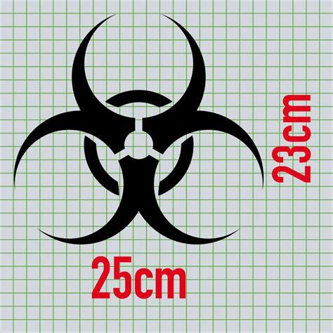Konturgeschnittenen Aufkleber by 2 Aufkleber 25cm Schwarz Bio Hazard Symbol Zeichen Tattoo