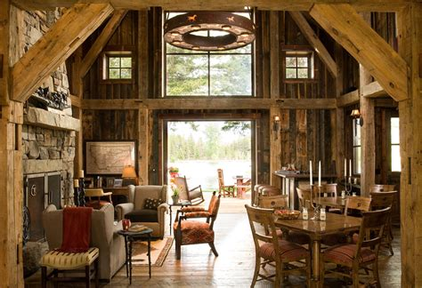 rustic barn homes montana mountain barn retreat