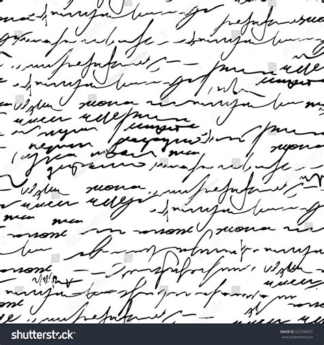 pattern of abstract writing seamless abstract calligraphy text pattern vector stock
