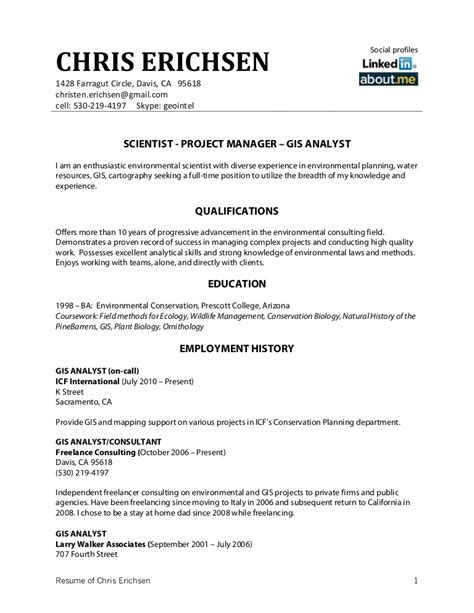 best gis technician resume objective images exle