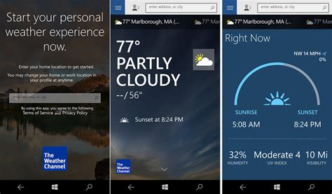 the weather channel mobile weather channel app for windows 10 mobile gets a new look