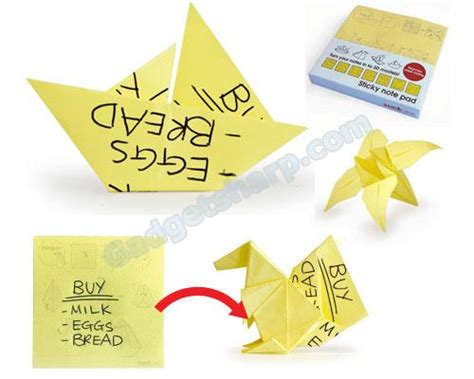 Origami Sticky Note Pad - note origami sticky 171 embroidery origami
