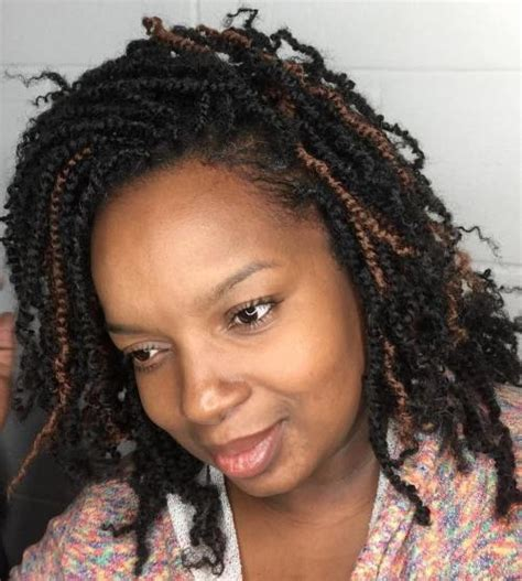medium length kinky twist 50 thrilling twist braid styles to try this season