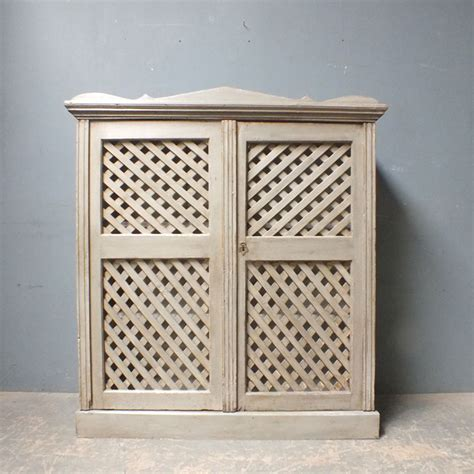 Kitchen Cabinet Quotes Antique Pine Cupboard With Lattice Work Doors Armoires