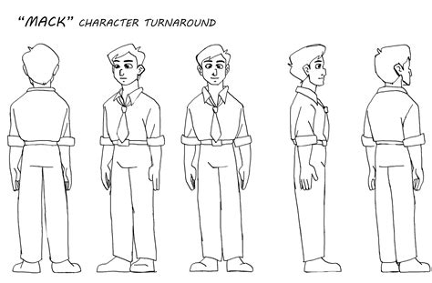 3d character template s animation pre production assignment 4