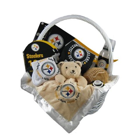 gifts for steelers fans pittsburgh steelers football gift basket findgift com