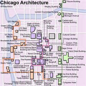 Chicago Sightseeing Map by Pics Photos Chicago Attraction Map