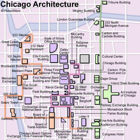 chicago map building 15 top tourist attractions in chicago planetware