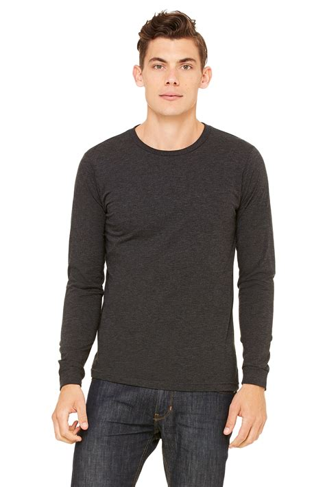 Kaos Polos Longsleeve Cotton Combed 30s Black unisex jersey sleeve canvas