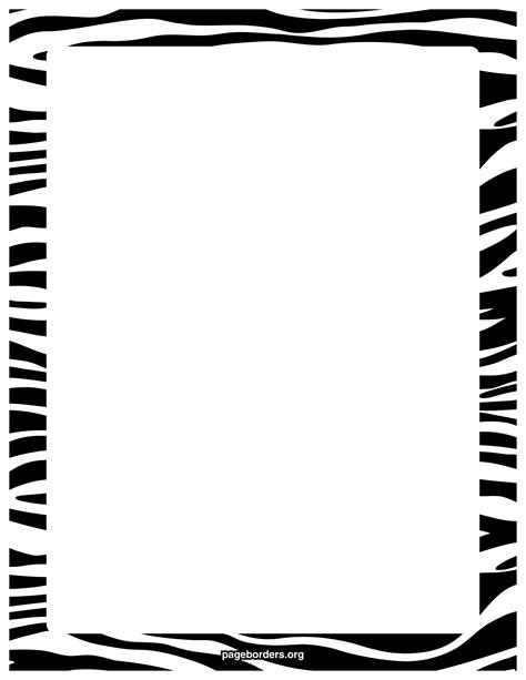pink and zebra print border free wallpaper zebra page borders clipart