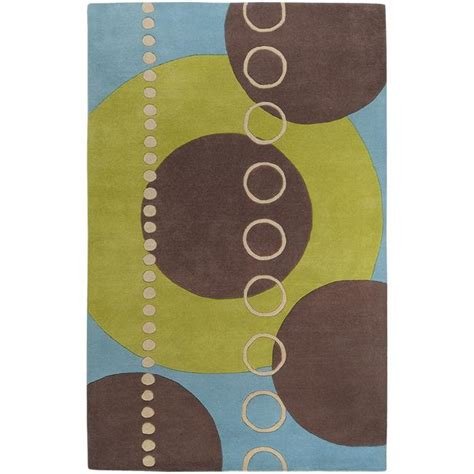 10 x 12 abstract geometric rug tufted contemporary multi colored geometric circles
