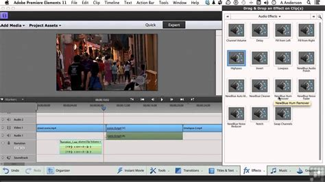 tutorial adobe premiere elements adobe premiere elements 11 tutorial adding audio effects