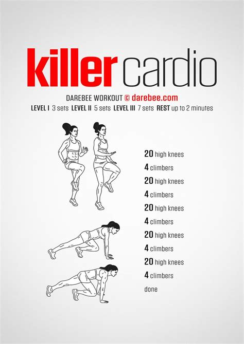 best 25 cardio workouts ideas on daily