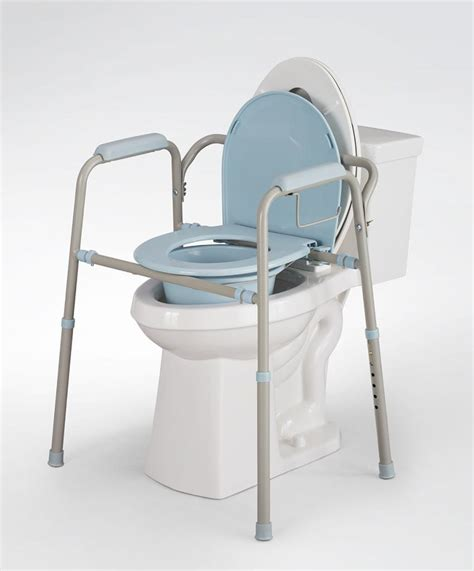 commode bathroom amazon com medline 3 in 1 folding steel commode microban
