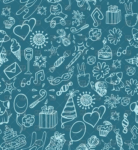 seamless pattern birthday festive birthday seamless pattern vector image 58313