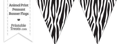 printable zebra banner zebra print pennant banner flag printable treats com
