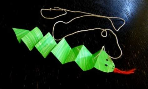 Paper Snake Craft - paper snake kidspot