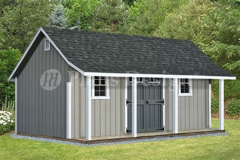 shed plans with porch 14 x 20 cape code storage shed with porch plans p81420