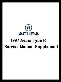 vehicle repair manual 1997 acura slx auto manual 1997 acura type r service manual supplement