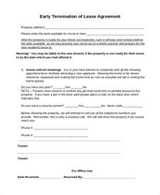 Lease Termination Agreement Sle by Sle Lease Agreement Form 9 Free Documents In Doc Pdf