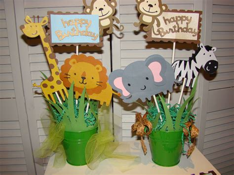 Safari Baby Shower Centerpieces by Jungle Safari Baby Shower Centerpiece By Pearlyskies