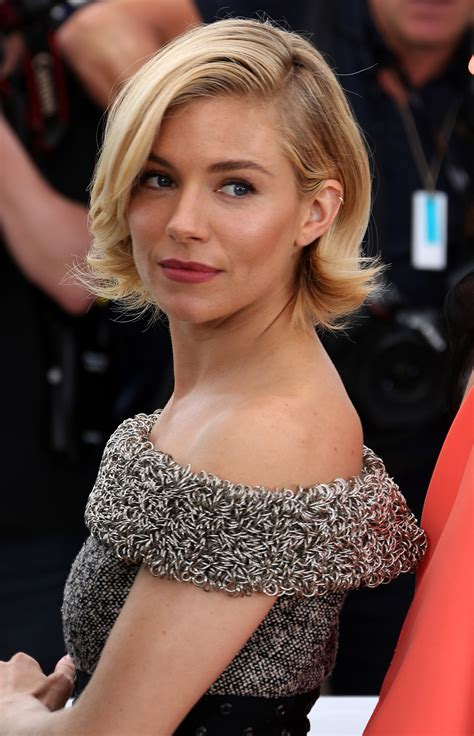 Sienna Miller Does Classic Cannes Beauty: Her Polished Bob