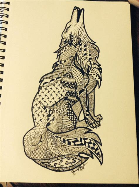 zentangle tattoo zentangle wolf zentangle zentangle and wolves