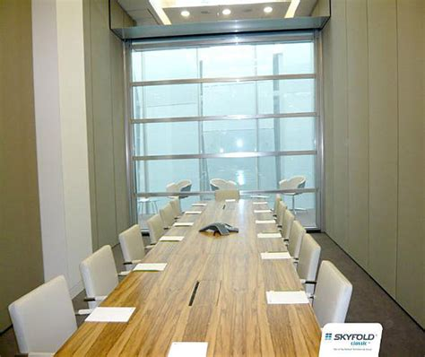 skyfold vertical folding glass walls interior tech