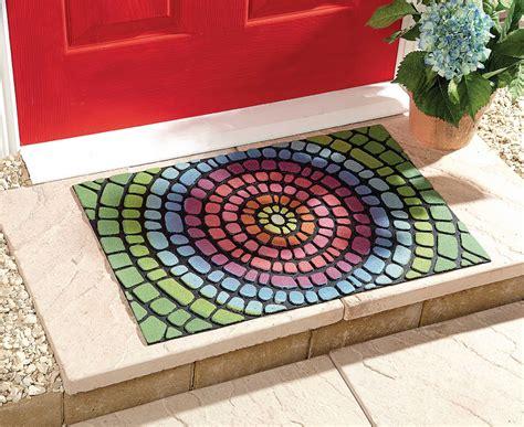Bright Doormat Rainbow Doormat Floor Door Mat Rug Weatherproof Slip