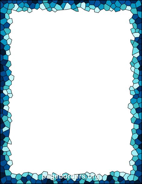 Printable Mosaic Border Use The Border In Microsoft Word Or Other Programs For Creating Flyers Free Microsoft Word Border Templates