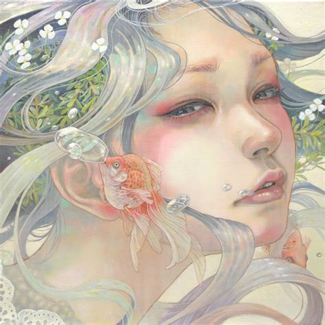 Japanese Bedroom Sets japanese artist merges women and nature in stunning oil