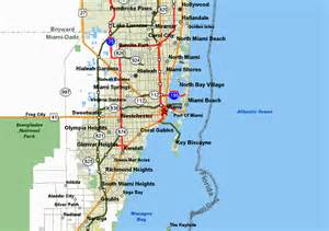 Map Of Miami Beach by Miami Map North Beach Submited Images