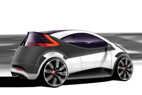 Citroen Electric Car by Nicky Lau Citro 235 N Electric City Car Concept