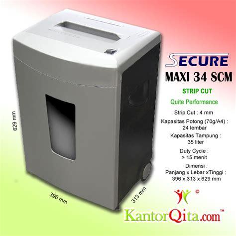 Penghancur Kertas Secure mesin penghancur kertas paper shredder secure maxi 34 scm