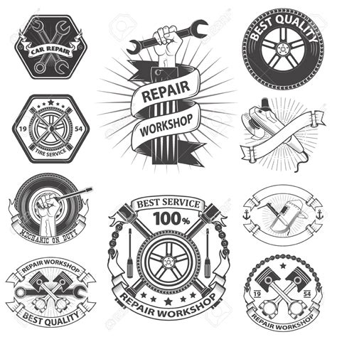 Emblem Plat D logo pour l atelier de r 233 paration m 233 canique embl 232 me