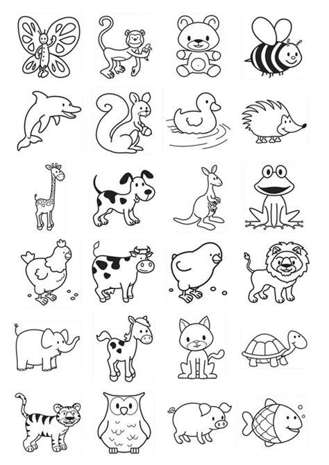 coloring pages with multiple animals dibujo para colorear iconos para ni 241 os img 20781
