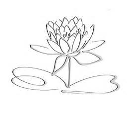 Line Drawing Of Lotus Flower Lotus Logo Black Grayshadow Flower Only Free Images At