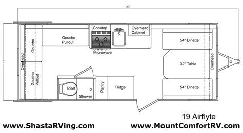 shasta rv floor plans shasta airflyte floor plan bing images