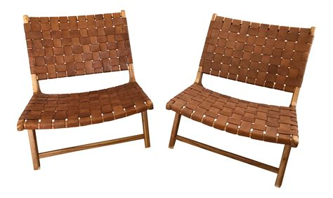 woven leather chair woven leather lounge chair chairish